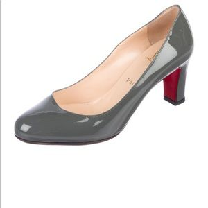 Grey patent leather Christian Louboutins